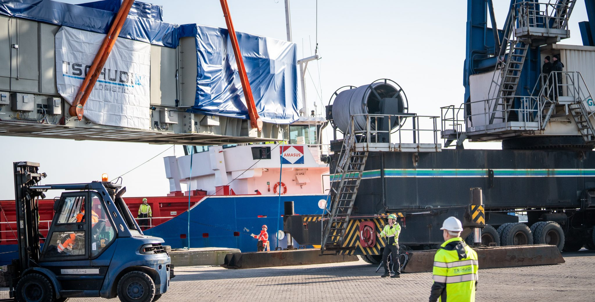 project transport of gas turbines from Sweden to India via Denmark